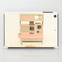 Pink Pola Love vintage camera iPad Case