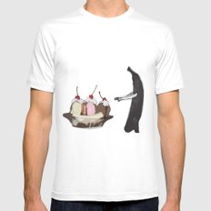 The Fruit that ate itself  SMALL White Mens Fitted Tee