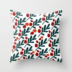 TWIGS AND BERRIES Throw Pillow