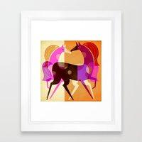 EQUESTRIAN DREAM Framed Art Print