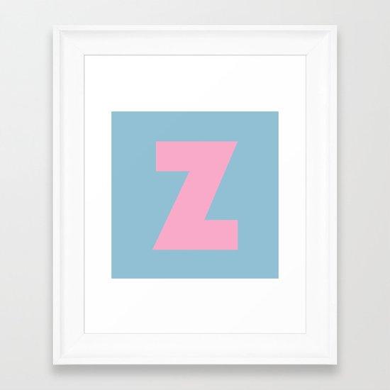 Z is for... Framed Art Print