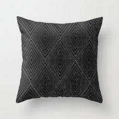 Diamonds (Black) Throw Pillow