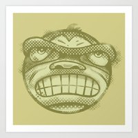 Monkey face Art Print