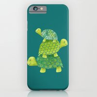 iPhone & iPod Case featuring Turtle Stack by Elephant Trunk Studio