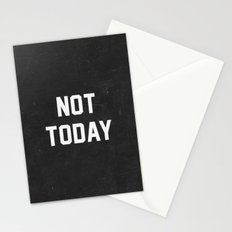 Not today - black version Stationery Cards