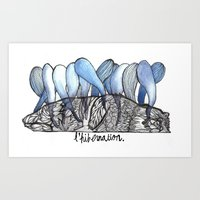 L'hibernation Art Print