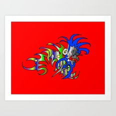 Raja-Red Art Print