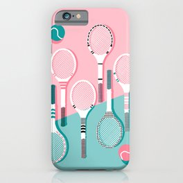 iPhone & iPod Case - Got Served - tennis country club sports athlete retro throwback memphis 1980s style neon palm spring - Wacka