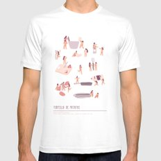 Tortilla de Patatas SMALL White Mens Fitted Tee