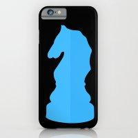 Blue Chess Piece - Knight iPhone 6 Slim Case