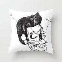 Elvis Skull Throw Pillow