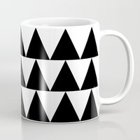 Black and White Triangle By PencilMeIn Mug