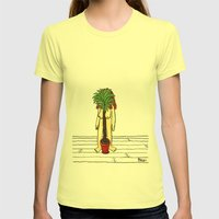 House Plant Womens Fitted Tee Lemon SMALL