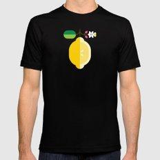 Fruit: Lemon Mens Fitted Tee SMALL Black