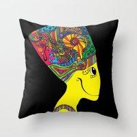 The Brain of Nefertiti Throw Pillow
