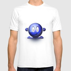 Emoticon Blue White Mens Fitted Tee SMALL