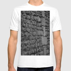 Stone V Mens Fitted Tee White SMALL