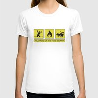 Hazards of the Fire Swamp Womens Fitted Tee White SMALL