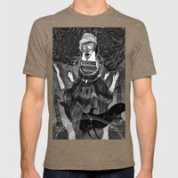 God Of Birds Mens Fitted Tee Tri-Coffee SMALL