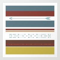 Arrows & Colours II Art Print