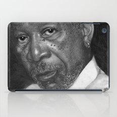 Morgan Freeman Traditional Portrait Print iPad Case