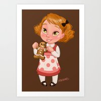 Gingerbread Baker Art Print