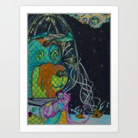 Moon Dog Art Print