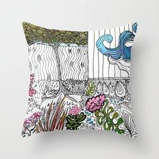 The Corner Garden Throw Pillow