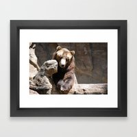 Posing For The Camera Framed Art Print