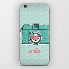 Green Smile iPhone & iPod Skin