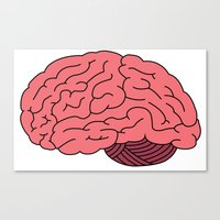 Canvas Print featuring BRAIN. by SaltyBrains