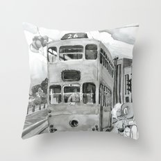{ 未來惑星 } Tramcar Throw Pillow