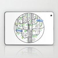 happy tree (black and green) Laptop & iPad Skin