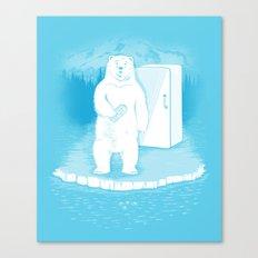 Save the polar bears, make more ice cubes. Canvas Print