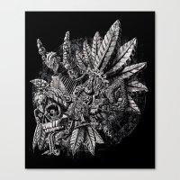 Aztec Great Lizard Warri… Canvas Print