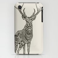 iPhone 3Gs & iPhone 3G Cases featuring Polynesian Deer by Huebucket