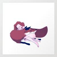 Foxy Scully PILLOW ;) Art Print