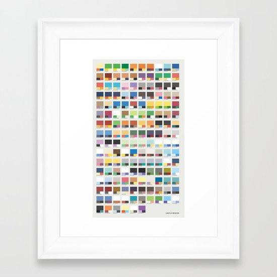 Poke-Pantone 5 (Unova Region) Framed Art Print