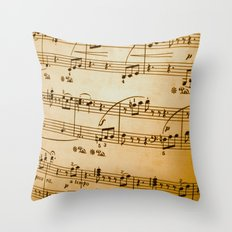 Music Sheet Throw Pillow
