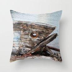 Fish Boat Throw Pillow