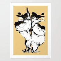 The Bull & Bear Art Print