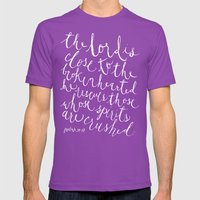 Psalm 34:18 Mens Fitted Tee Ultraviolet SMALL