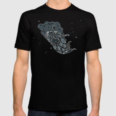 Night Mother SMALL Mens Fitted Tee Black