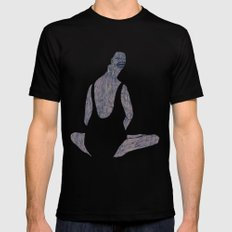 yoga Mens Fitted Tee Black SMALL