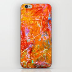 Abstract with Circle in Gold, Red, and Blue iPhone & iPod Skin