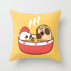 Chicken Noodle Puglie Soup Throw Pillow
