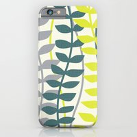 seagrass pattern - teal and lime iPhone 6 Slim Case