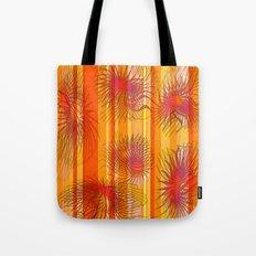 Orange stripes with bacillus Tote Bag