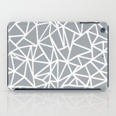Abstract Outline Thick White on Grey iPad Case