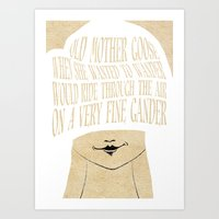 Old Mother Goose - Lesso… Art Print
